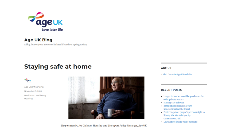 Age UK: Staying Safe at Home