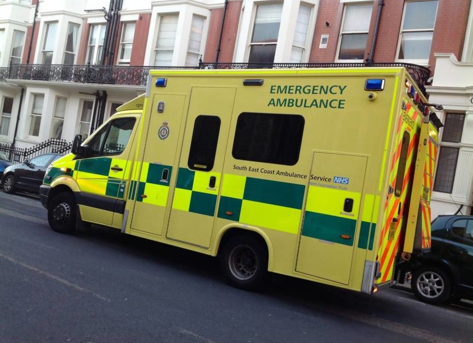What should you do whilst waiting for an ambulance?